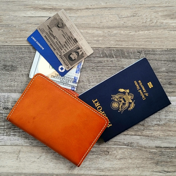 Baseball Jersey Genuine Leather Passport Cover Personalized